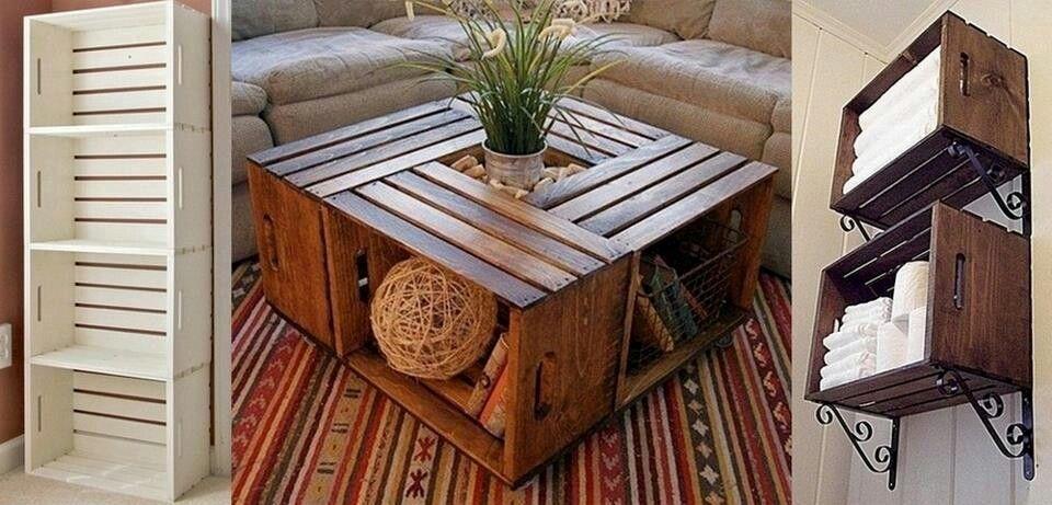 Crate Furniture Ideas I Love Pinterest