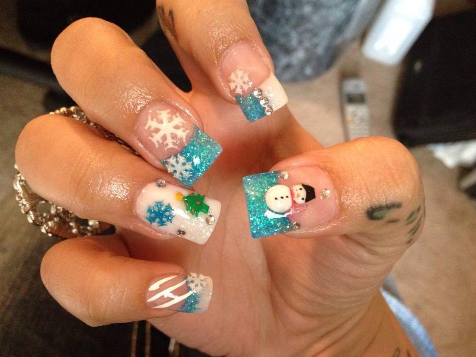 my favorite Holiday nails I ever had done =) !! | Nail Art | Pinterest