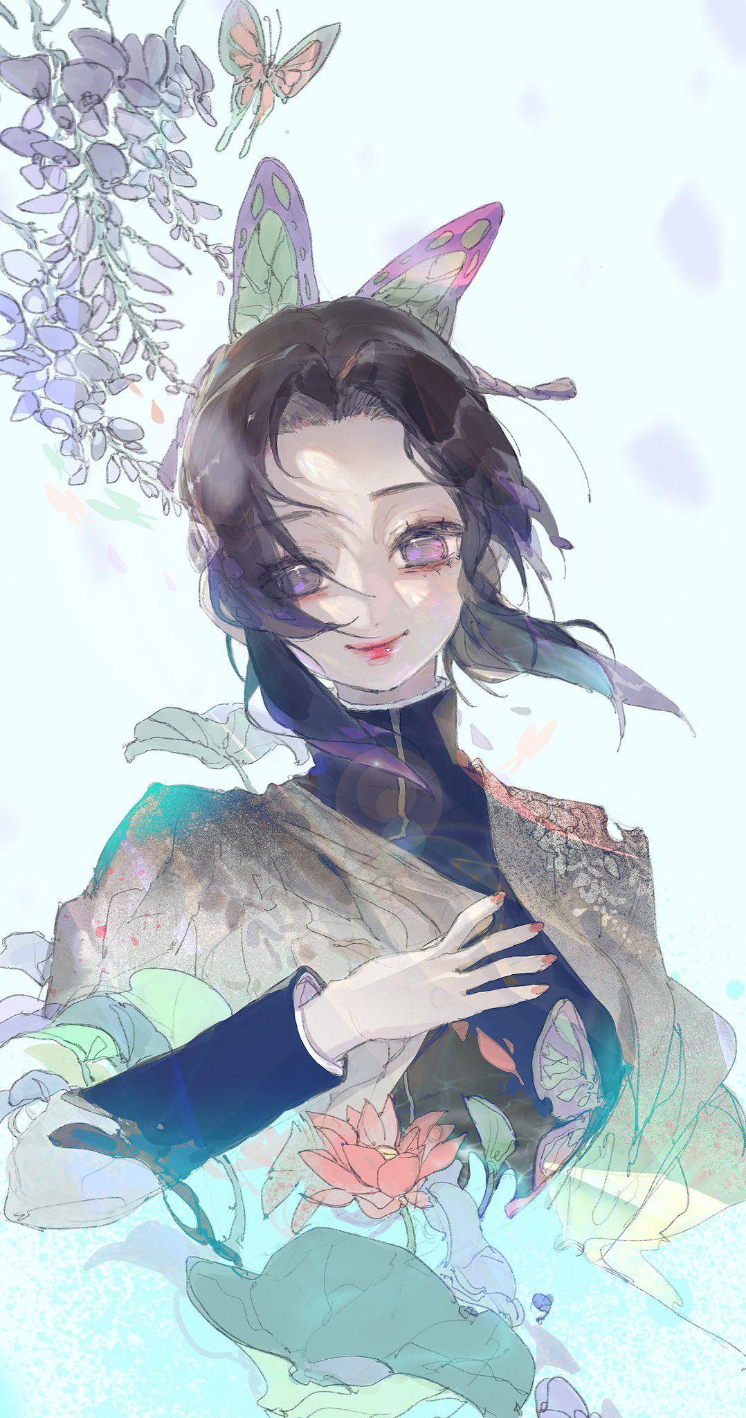 胡蝶しのぶ壁紙可愛い