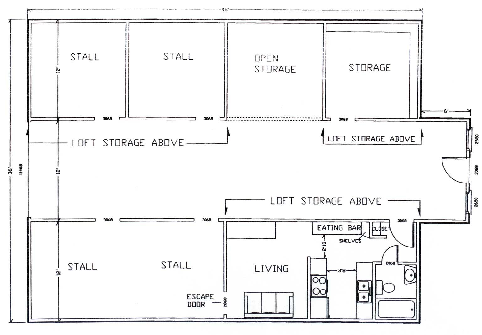 Barn floor plan our farm pinterest for 8 stall barn plans