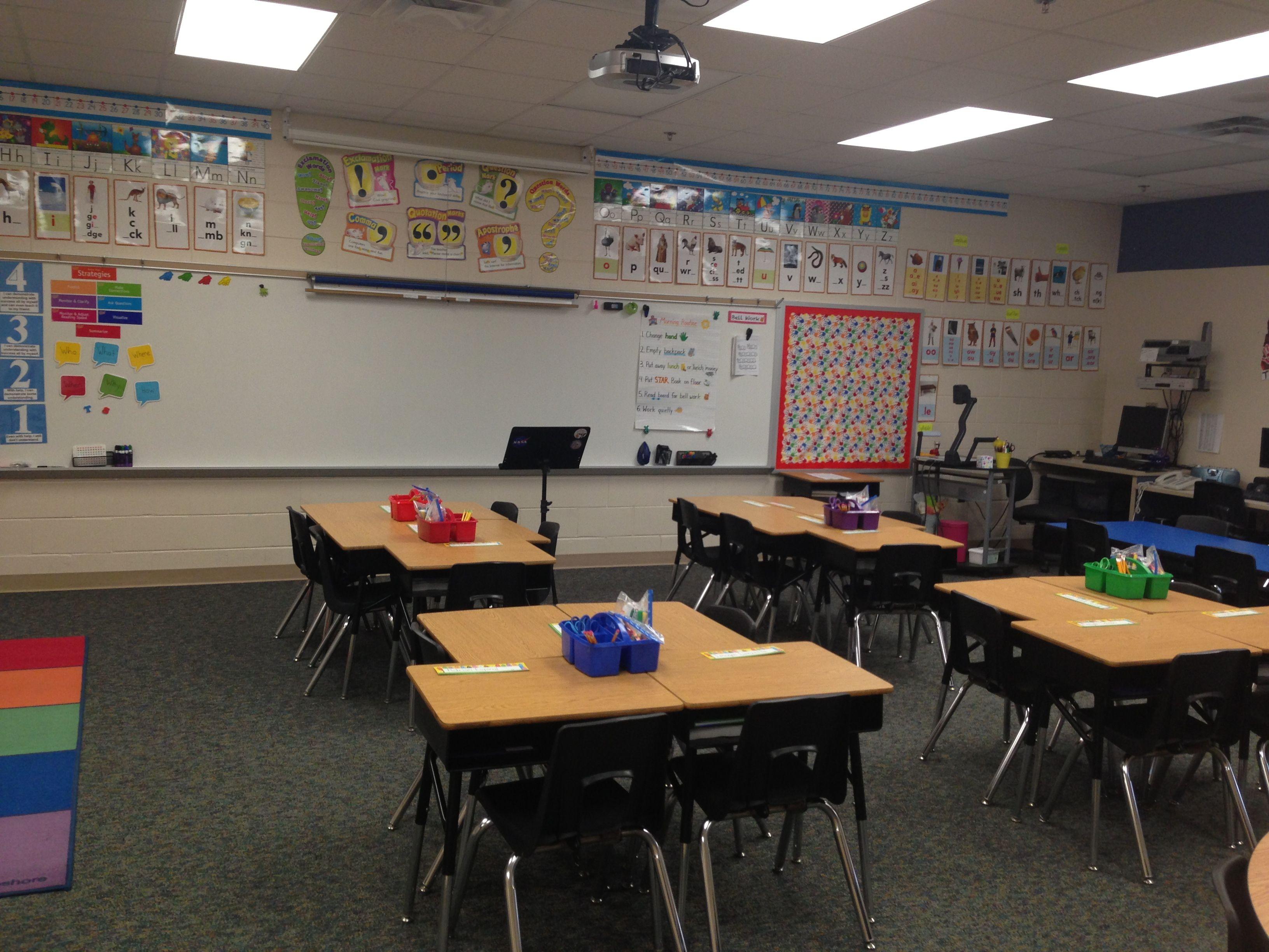 Classroom Workstation Ideas : Desk arrangement classroom ideas pinterest