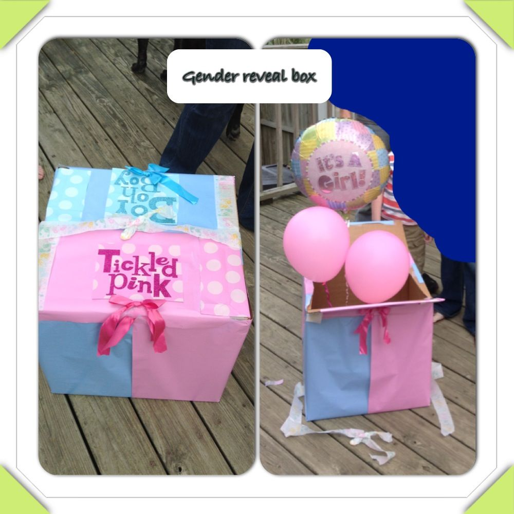 Gender reveal box with balloons photog ideas and tips pinterest