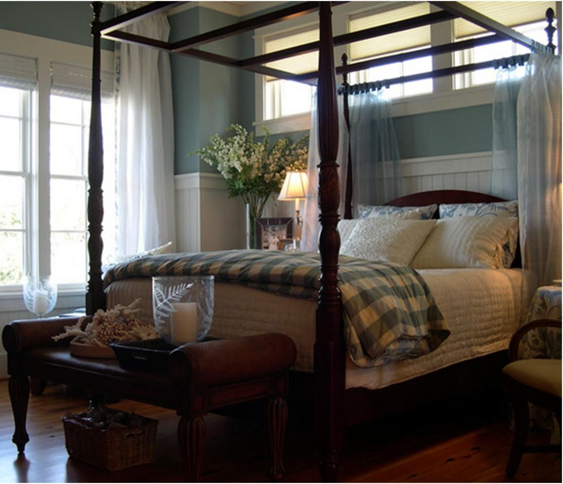 romantic canopy bed bedroom pinterest