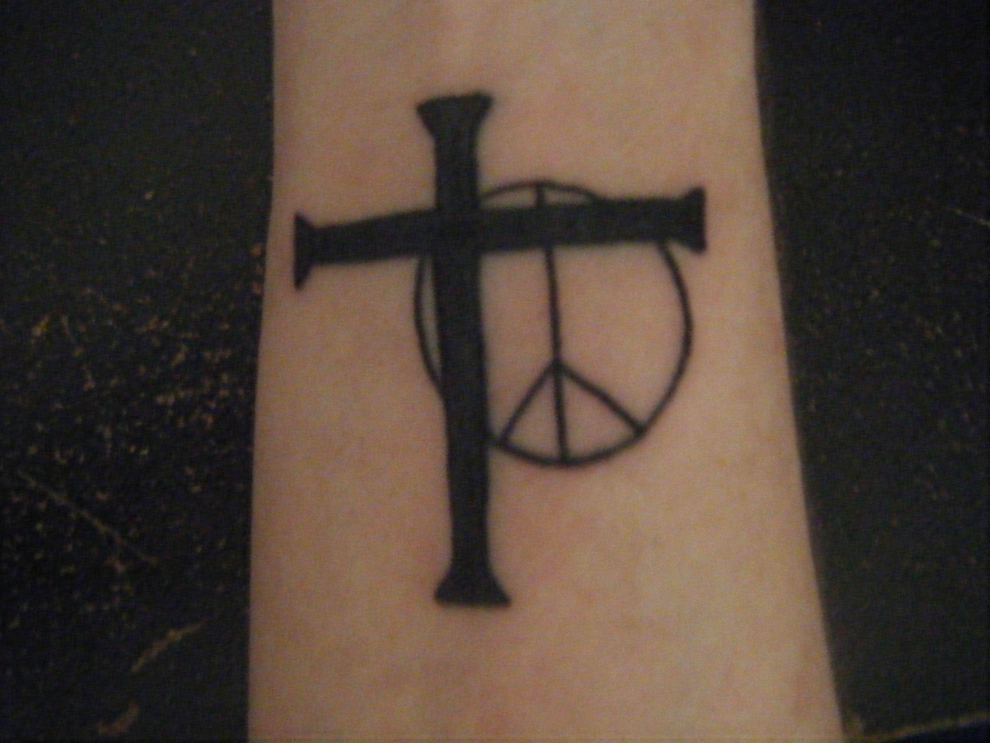 cross peace sign wrist wear dope