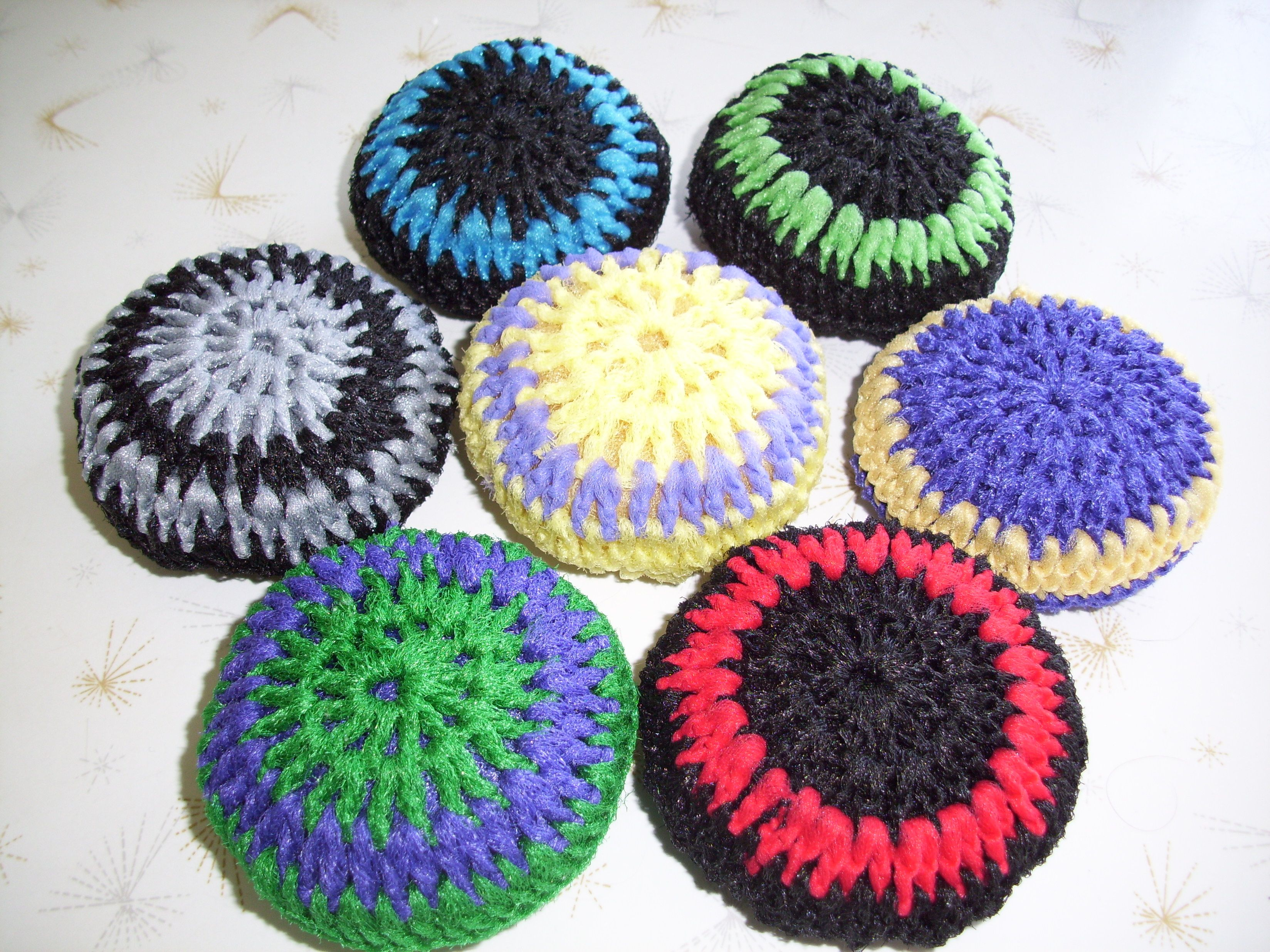 Crocheted Pot Scrubbers Crochet Pinterest