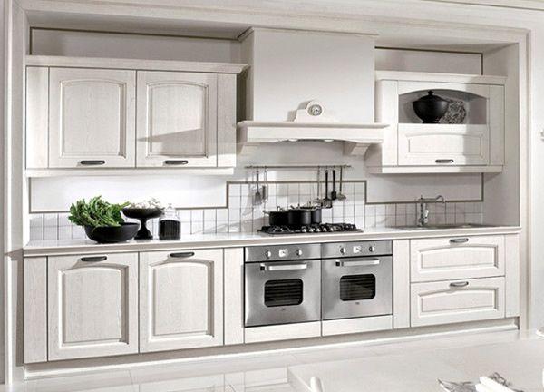 Casa immobiliare accessori piastrelle cucina bianca - Rivestimento cucina bianca ...