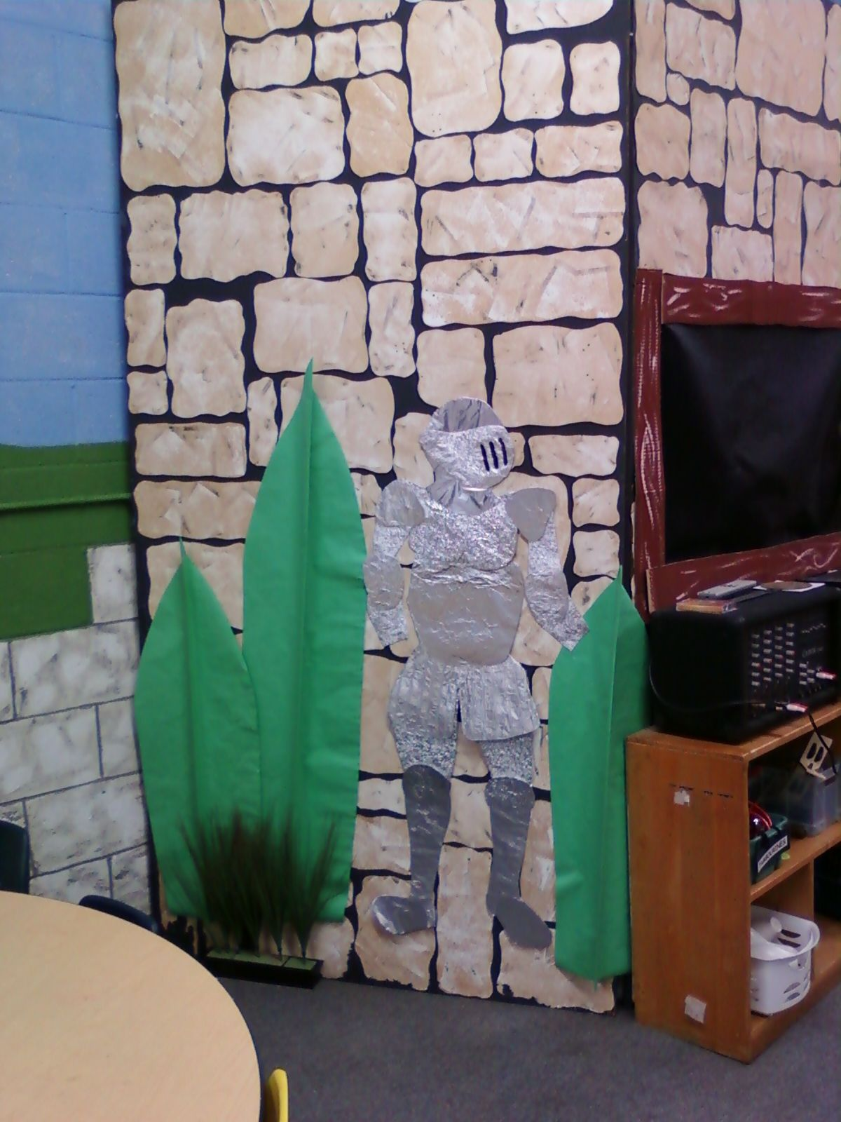 Vbs armor of god decorations on pinterest party for Armor decoration