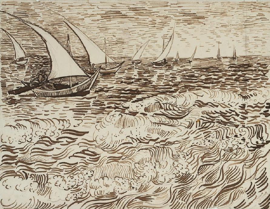 Line Drawing Van : Van gogh drawing drawings print pinterest