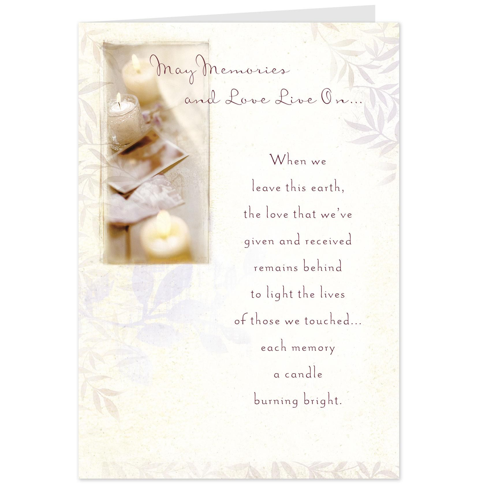 Hallmark Sympathy Cards Happy Birthday Cardsetc Pinterest