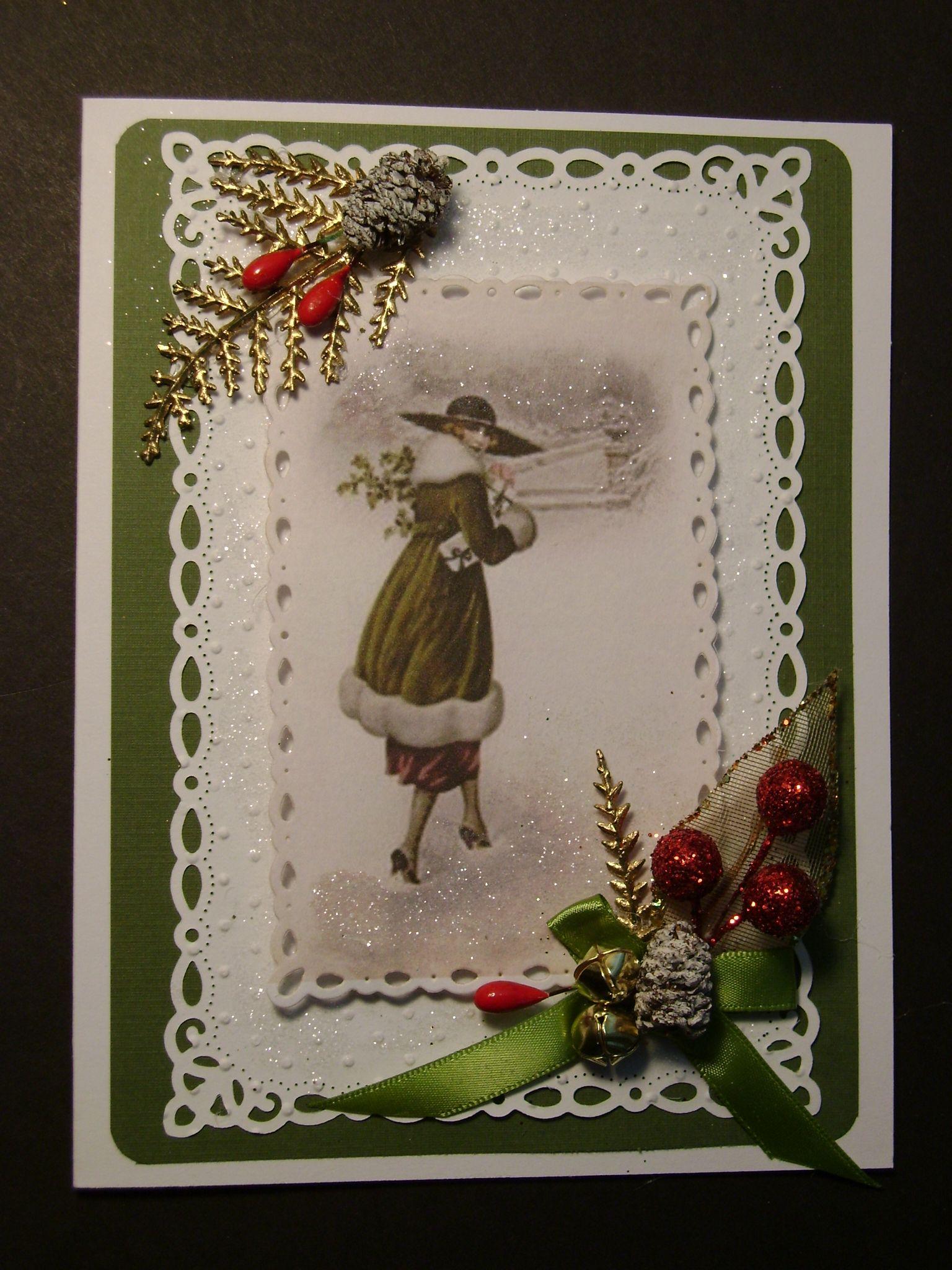 Vintage christmas handmade cards christmas pinterest for Handmade christmas cards pinterest