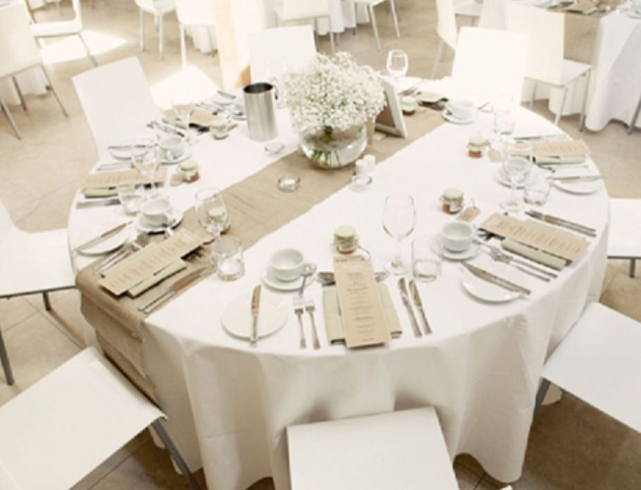 Burlap Hessian Table Runner Wedding Ideas Pinterest