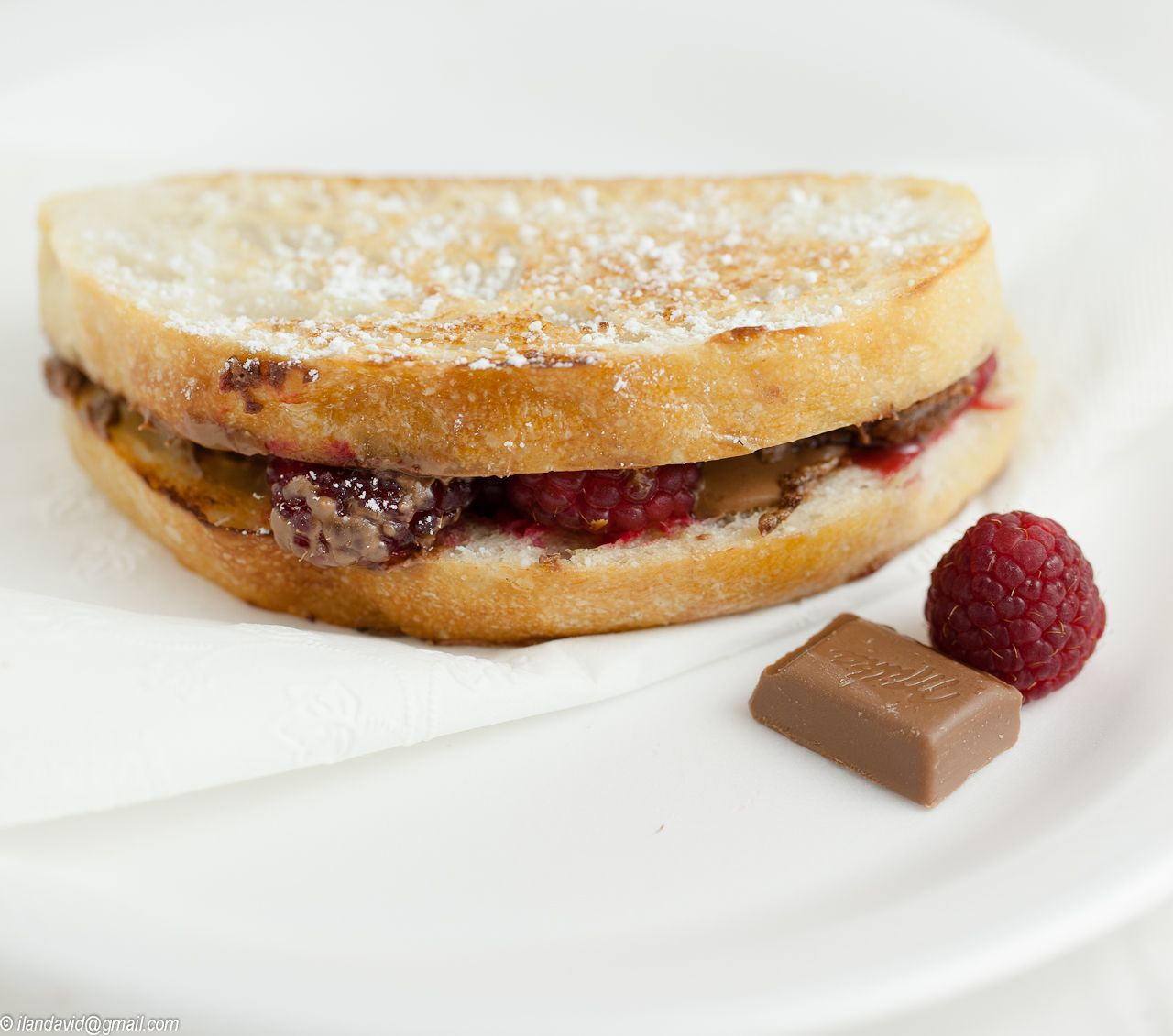 Grilled Chocolate and Raspberry Sandwich | savory | Pinterest