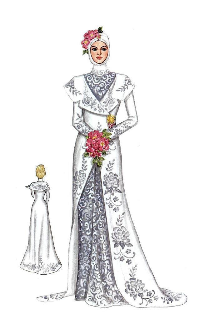 Sketsa kebaya wedding