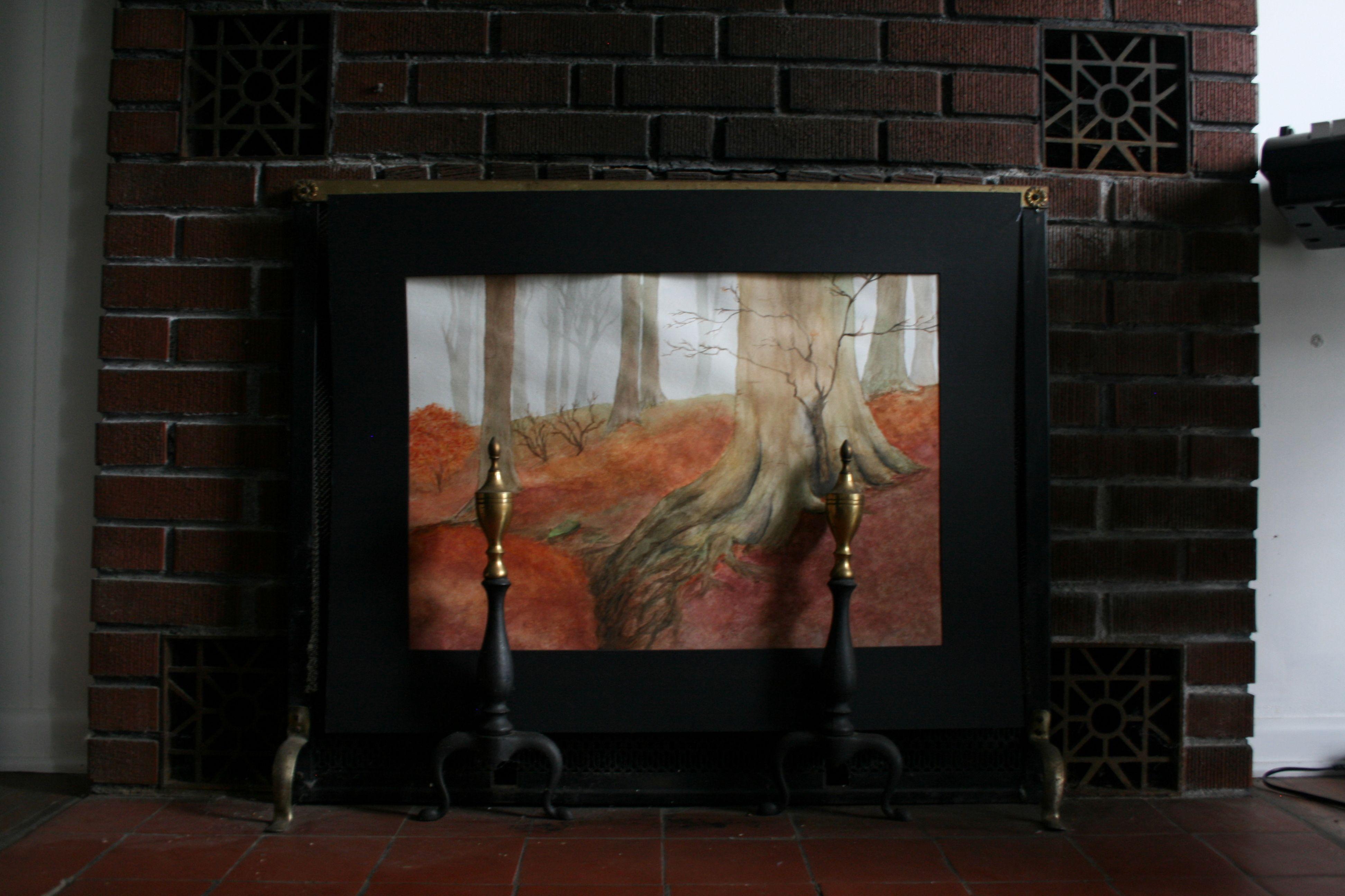 Unused Fireplace Displays Art Living Family Rooms Pinterest