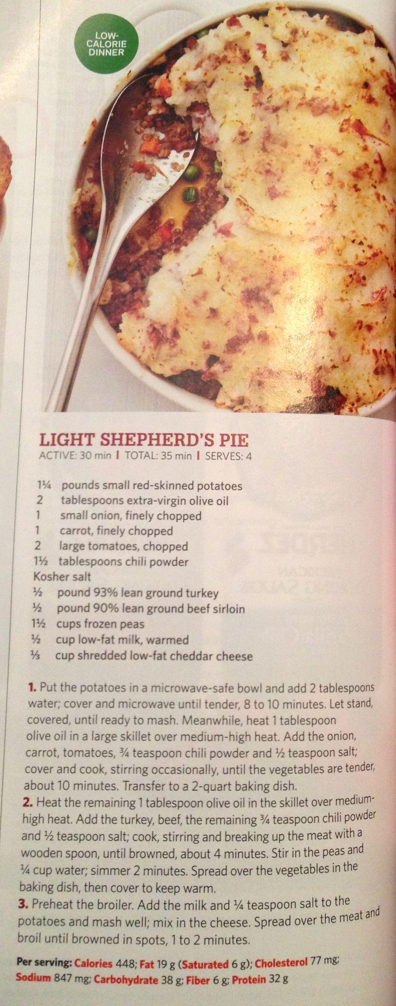 Light shepherd's pie | Meat, lobster, shrimp main dishes | Pinterest