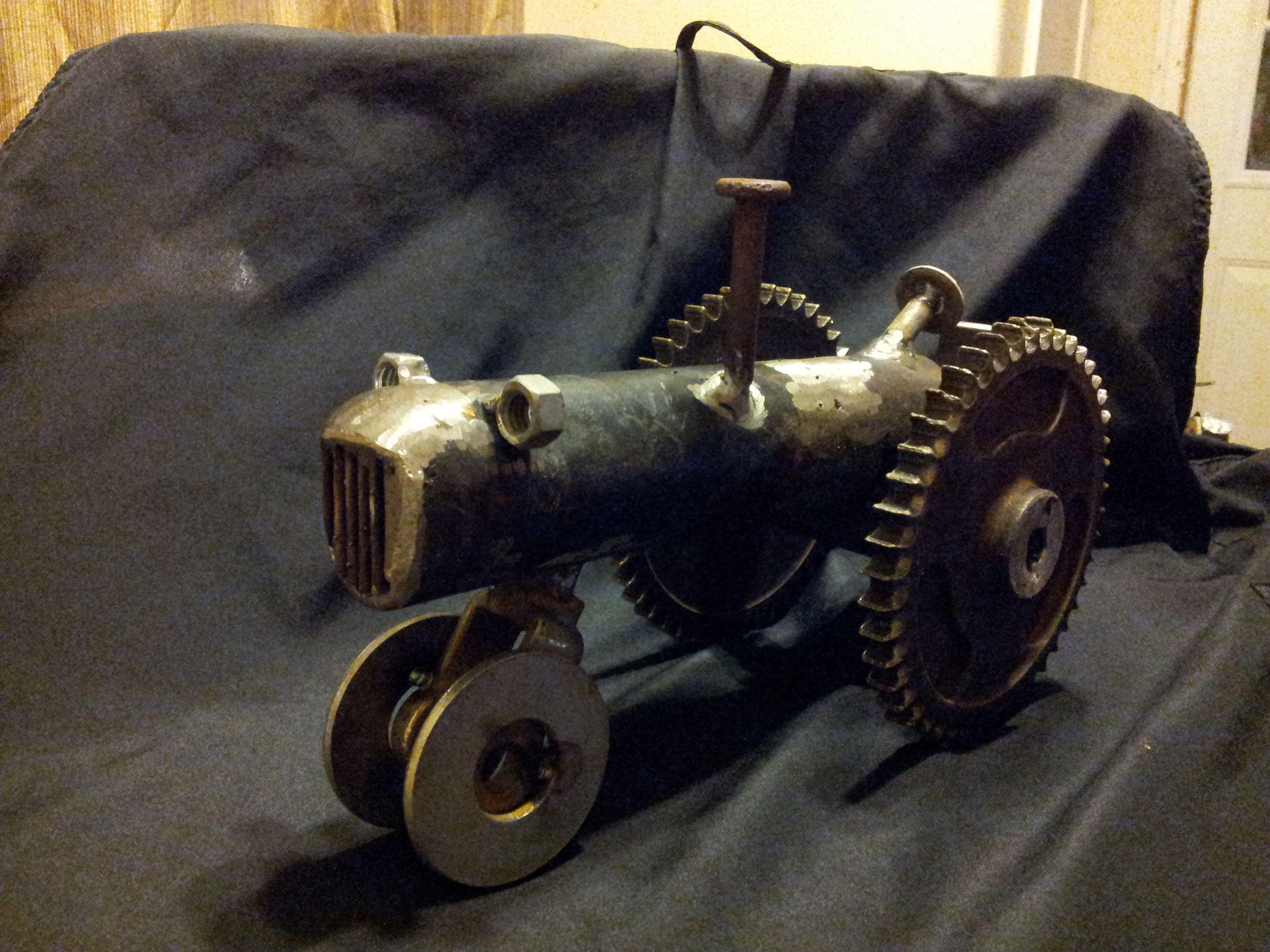 Metal Art Tractor : Scrap farm tractor metal art pinterest