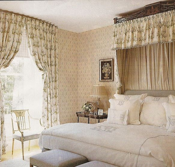Elegant English Country Style Bedroom Decorating