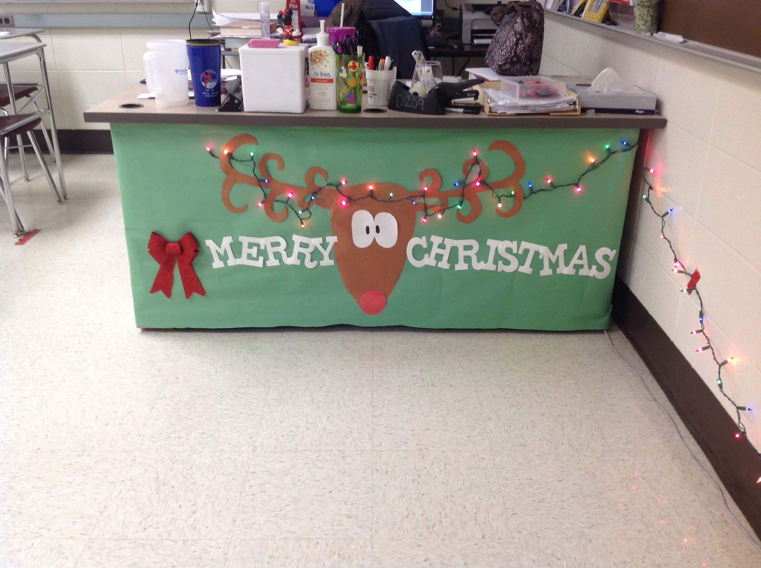 Christmas Desk Decoration School Ideas Pinterest