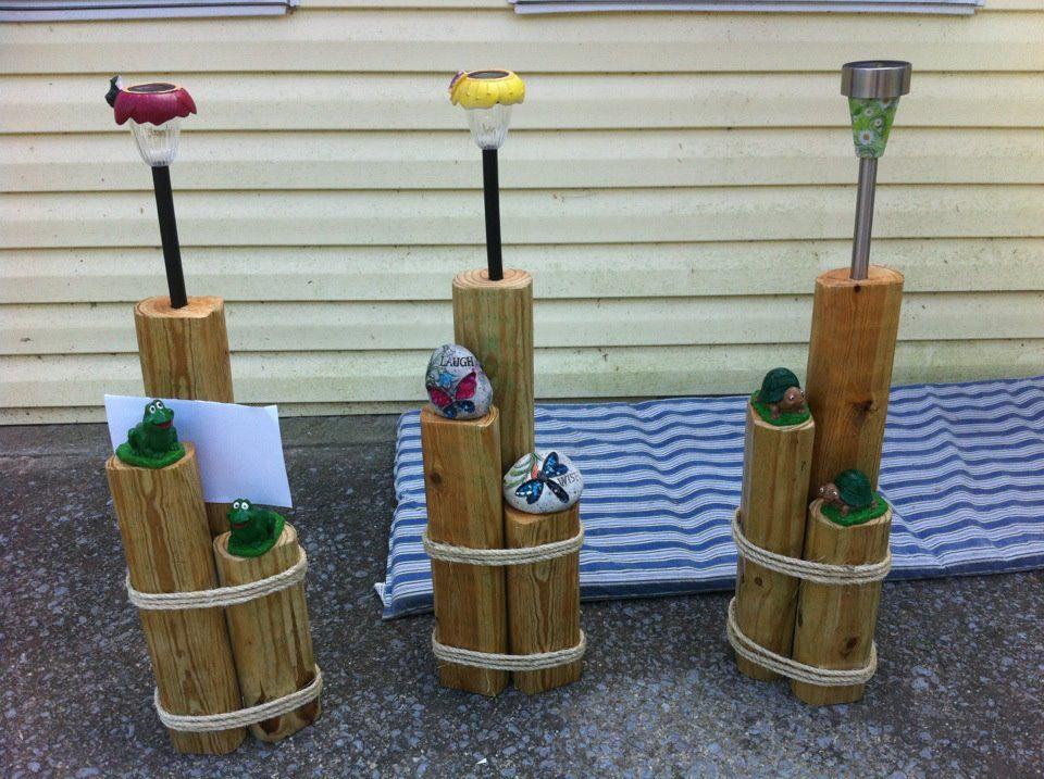 Garden solar lights I made Gardening Pinterest