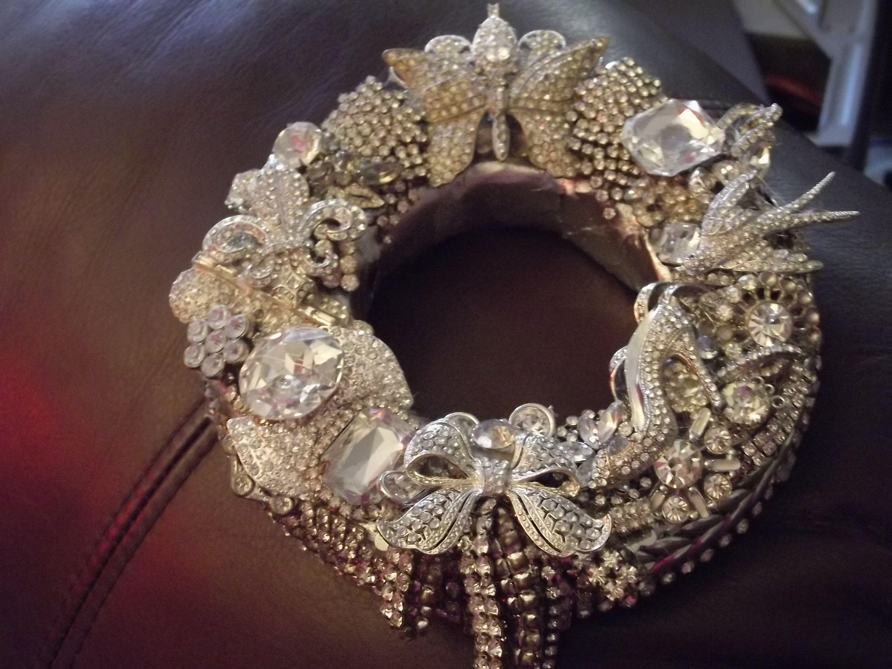 Rhinestone wreath jewelry pinterest