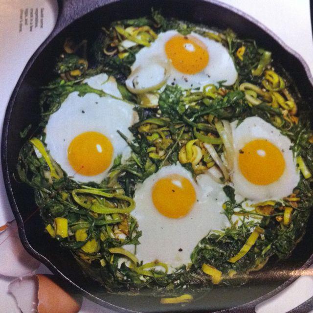 Eggs, Leeks, & Arugula   Food & Drinks   Pinterest