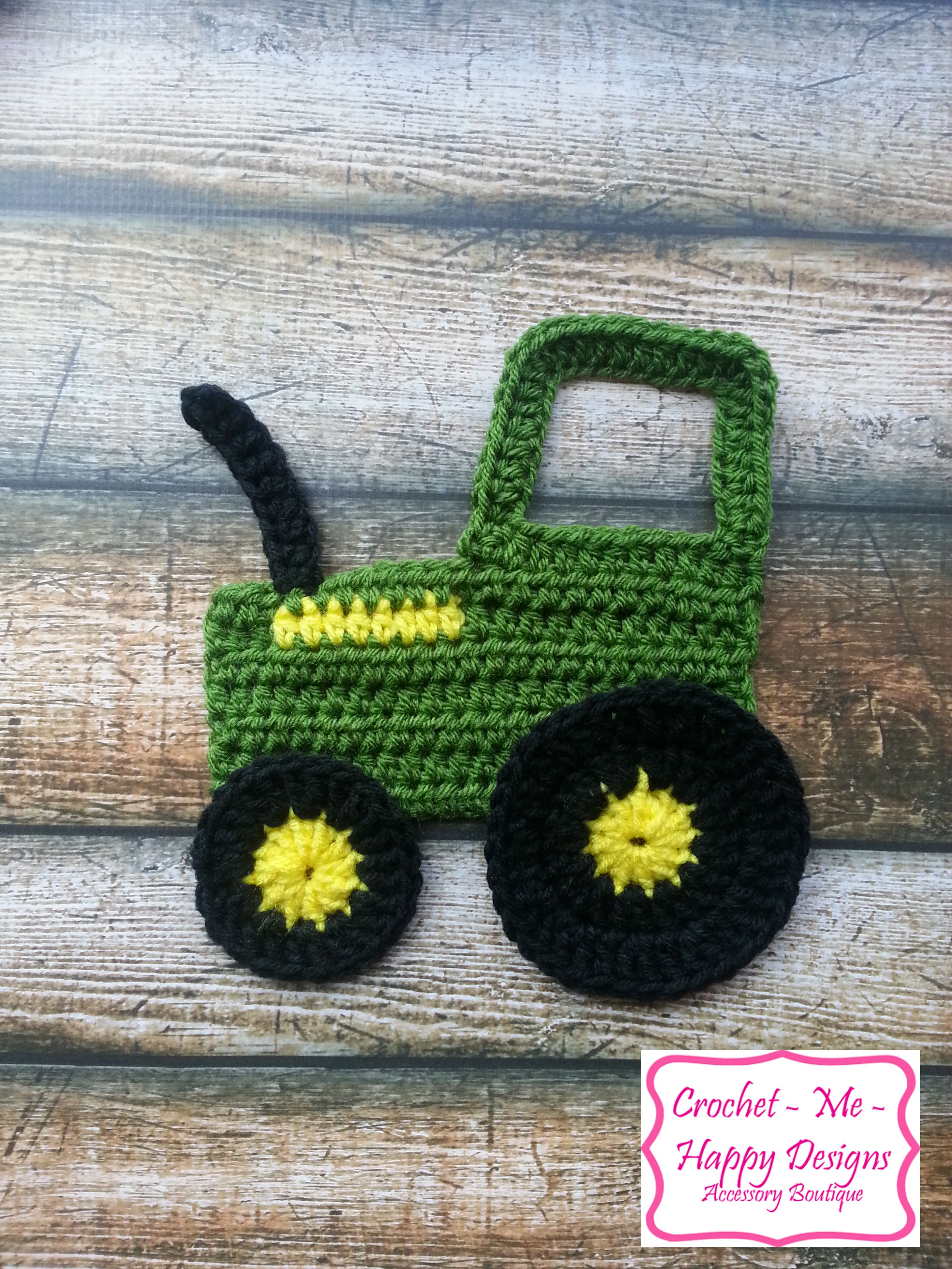 Crochet Pattern For John Deere Afghan : Crochet john deere tractior applique Yarn ideas Pinterest