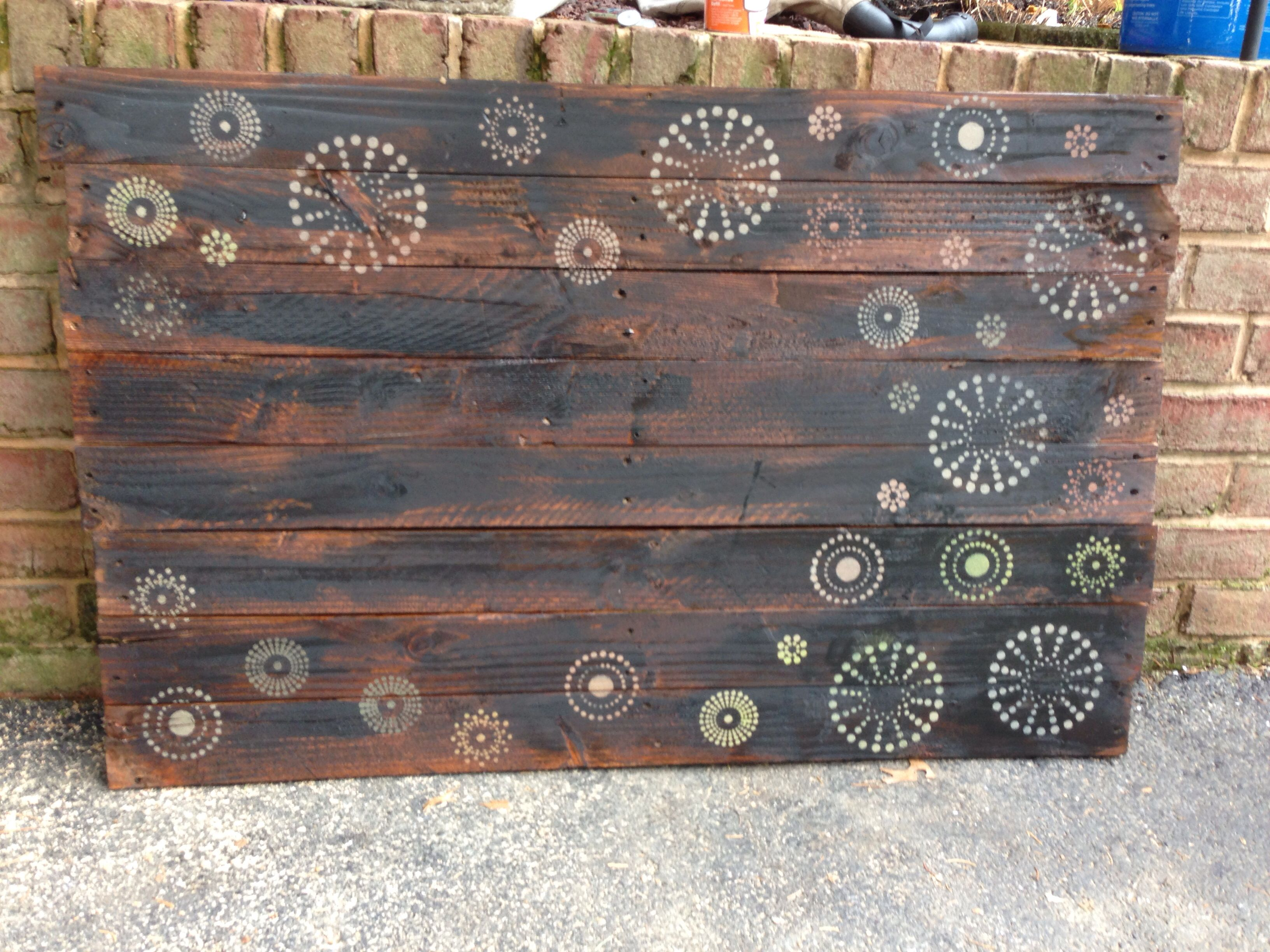 Wall Art With Wood Pallets : Wood pallet wall art for the home