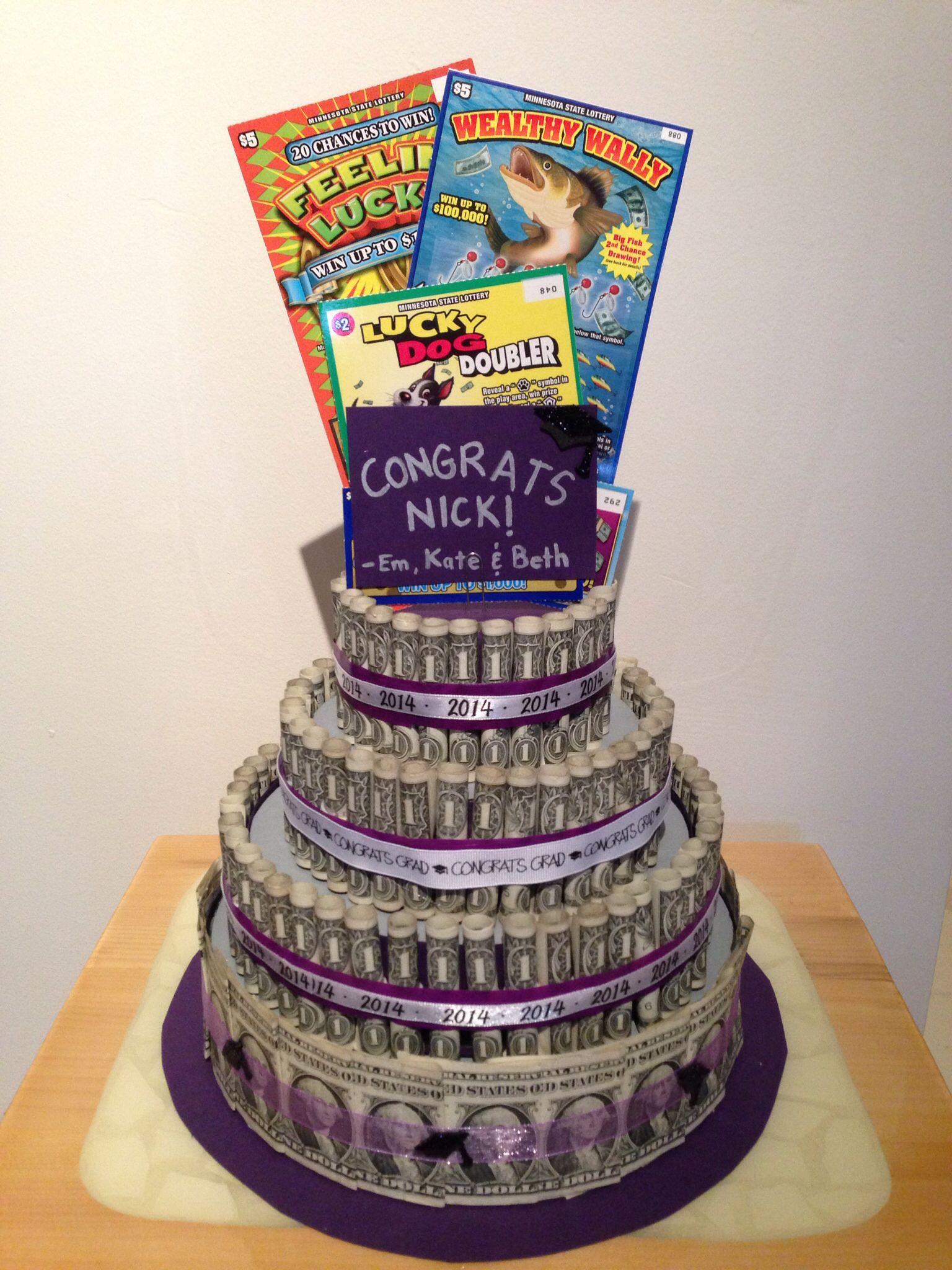 Money cake for graduation gift cake pinterest