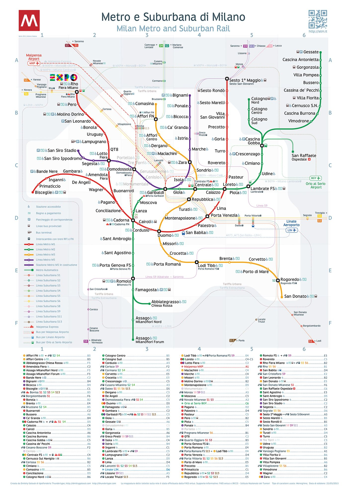 Milan Metro Map Bildgestalter http://www.bildgestalter.net ...