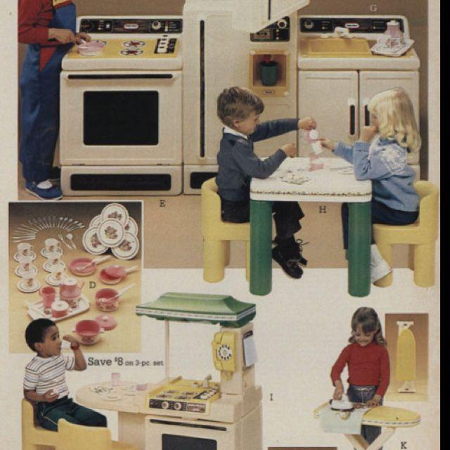 80 39 s little tikes kitchen sets memories pinterest