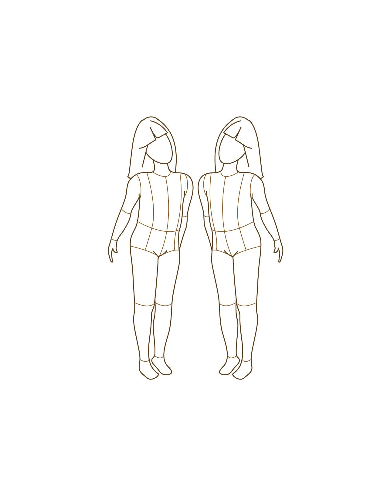 Children fashion figure templates