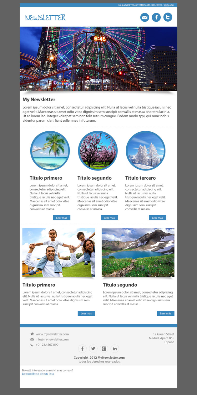 Simple Newsletter Templates 6933121 Hitori49fo