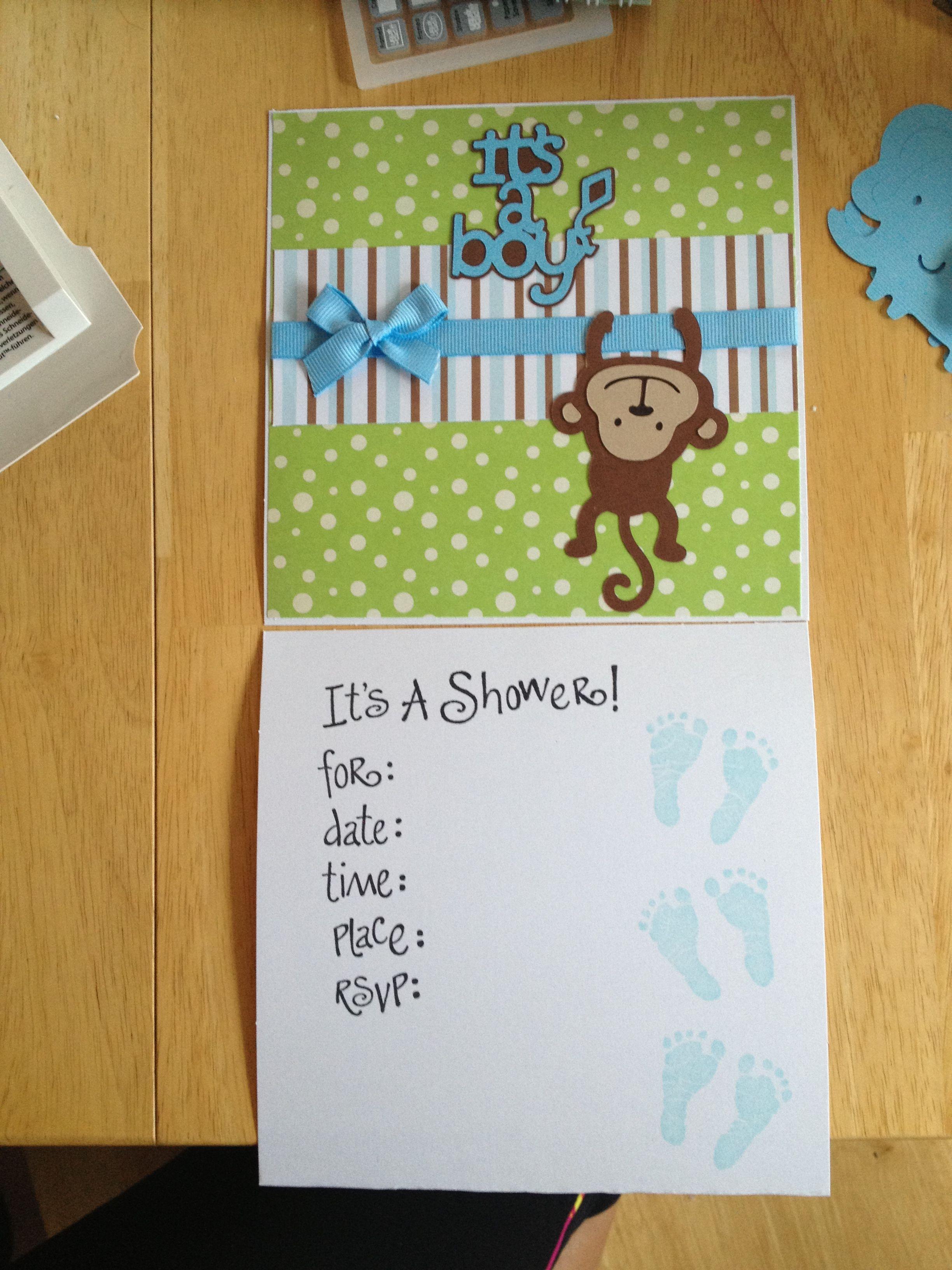 monkey baby shower invitation cricut cricut pinterest