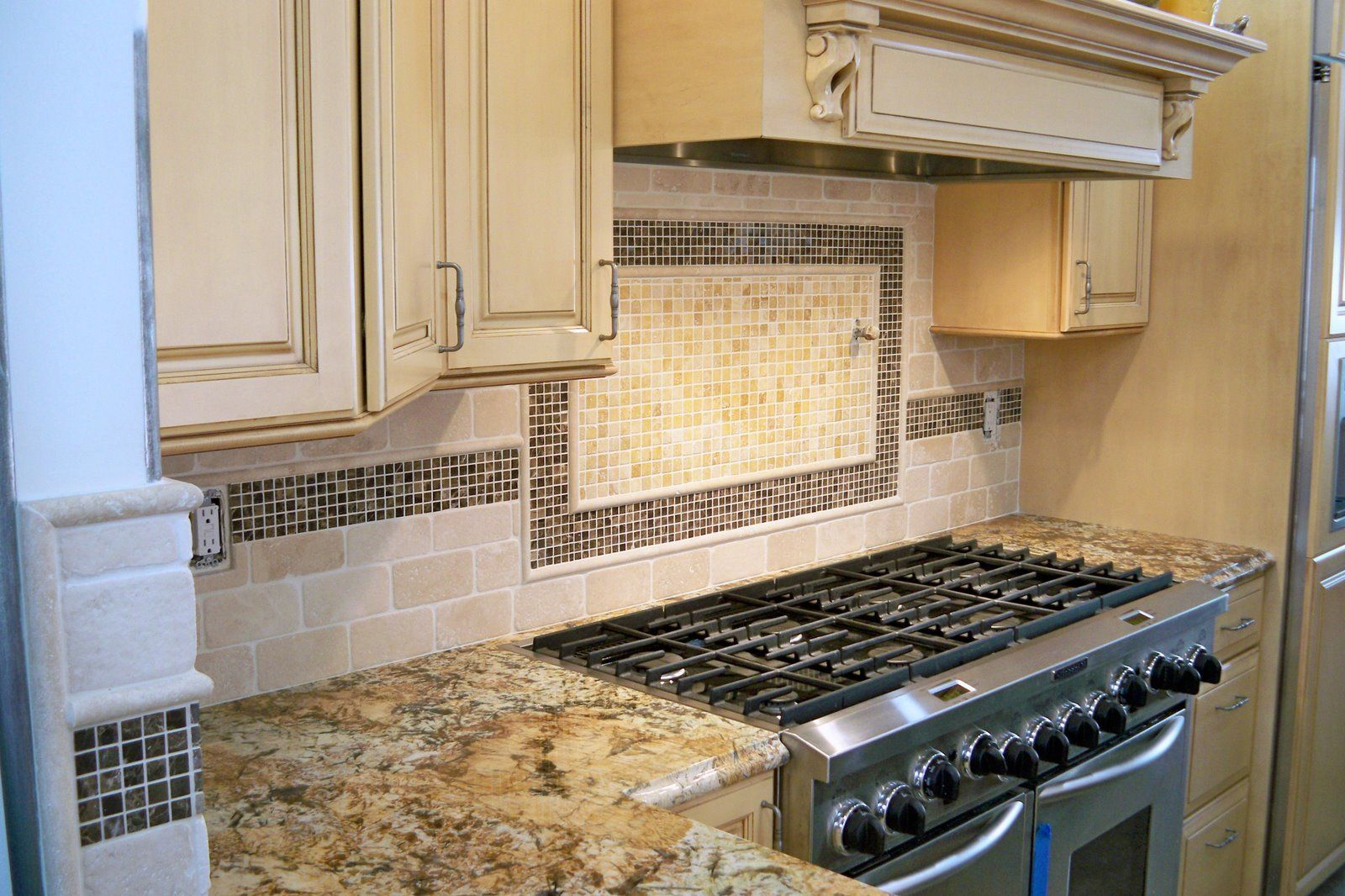 backsplash pattern behind stove top for the home pinterest