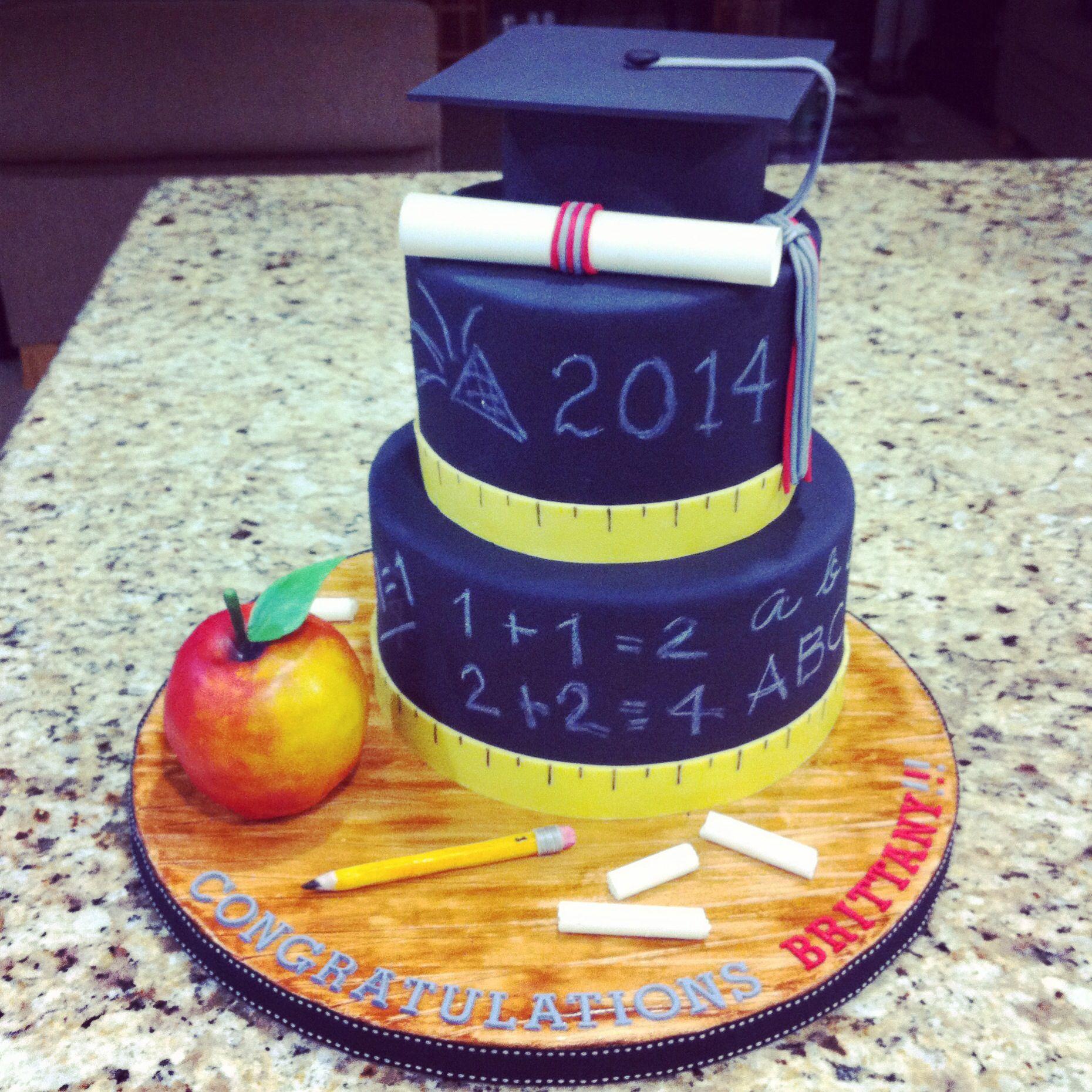 Teacher Graduation Cake Ideas 35216 Teacher S Chalkboard G