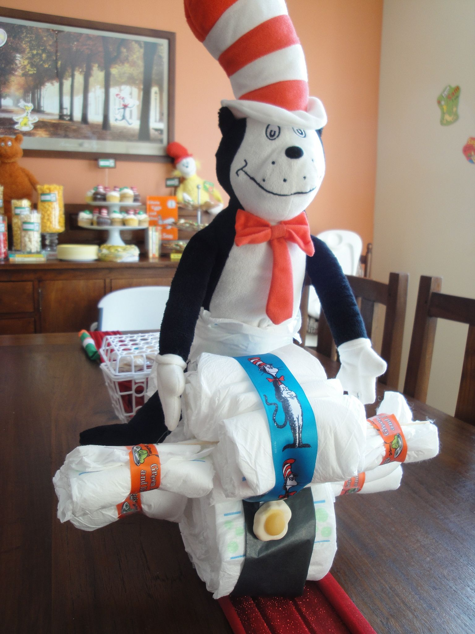 cat in the hat diaper motorcycle baby shower ideas pinterest