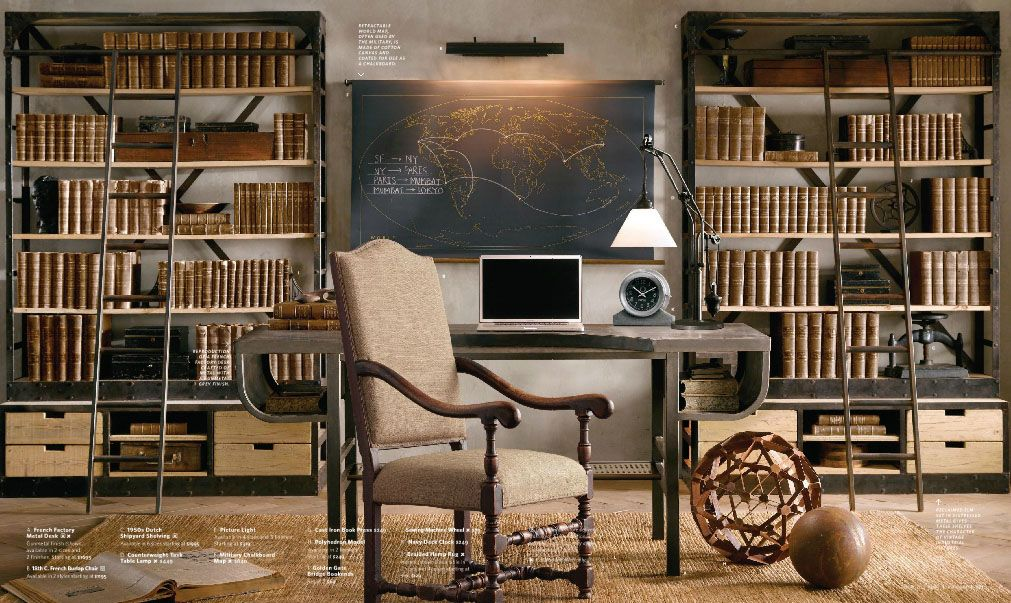 restoration hardware style home office home projects