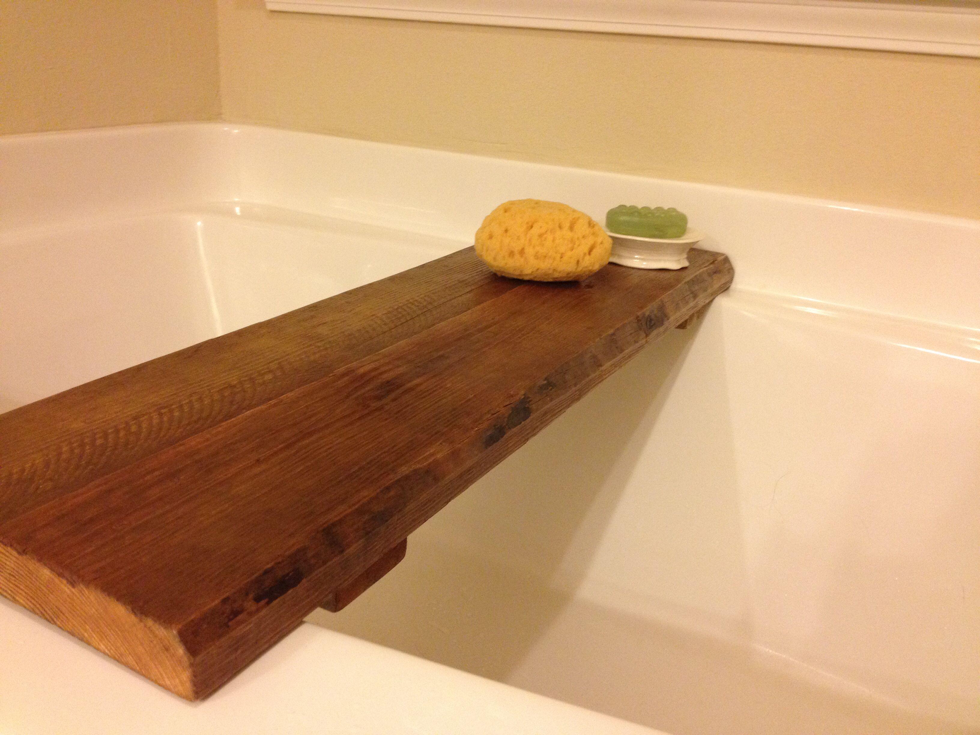 DIY bath tub tray | Casa Bonita | Pinterest