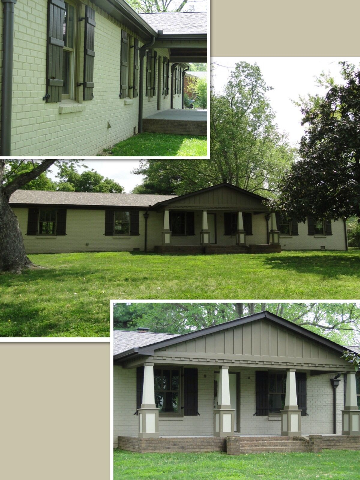 Exterior Remodel Of A Brick Ranch Home Exteriors Pinterest