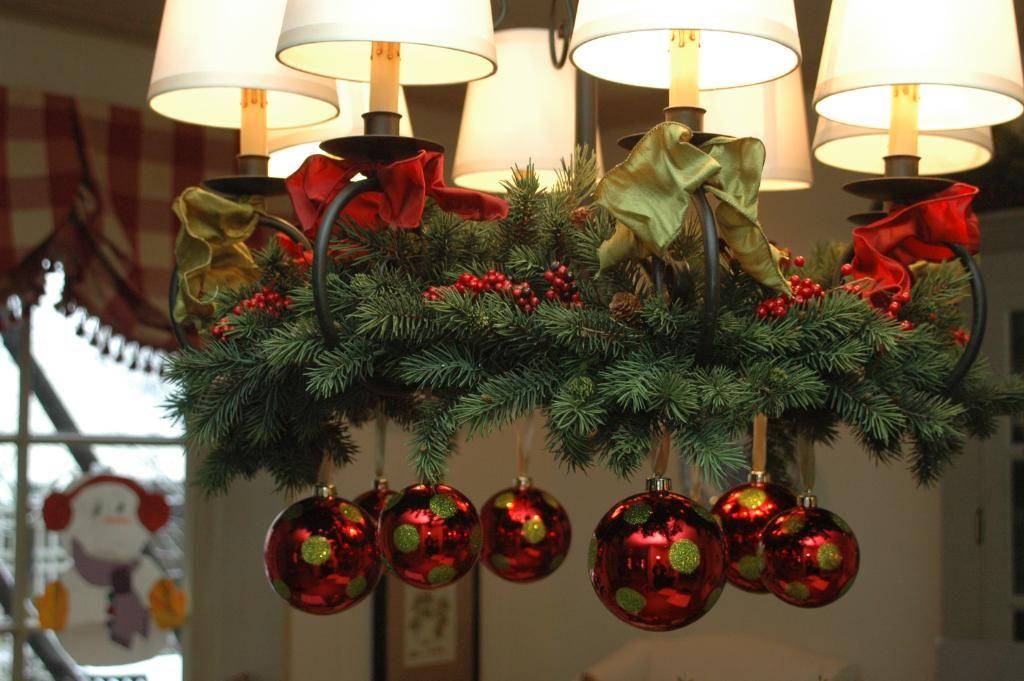 christmas chandelier holiday decor pinterest