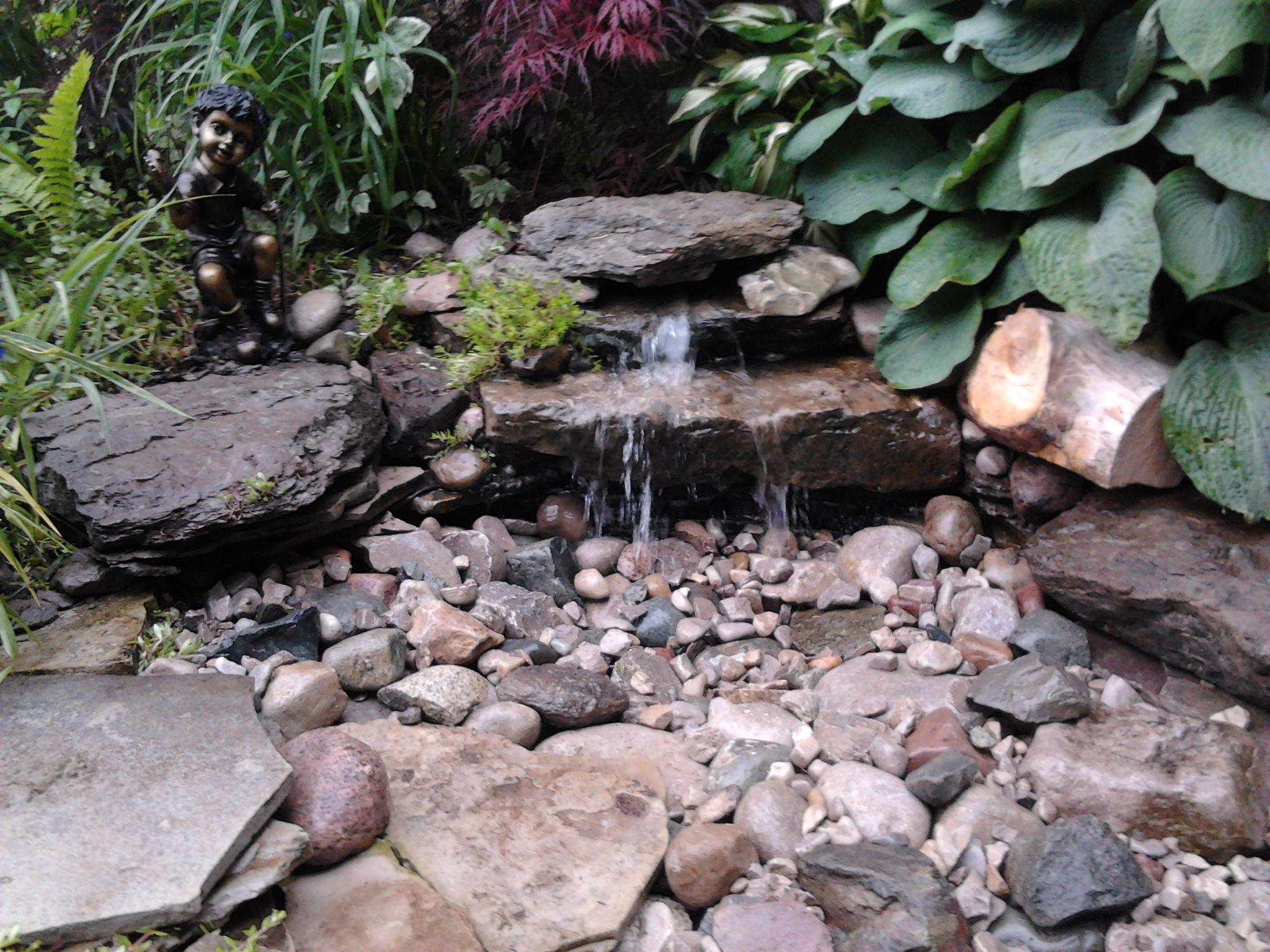 Diy Pondless Waterfall Yard Pinterest