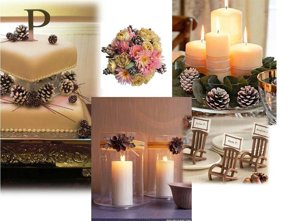 Pine cone rustic wedding ideas pinterest for Pinecone centerpieces