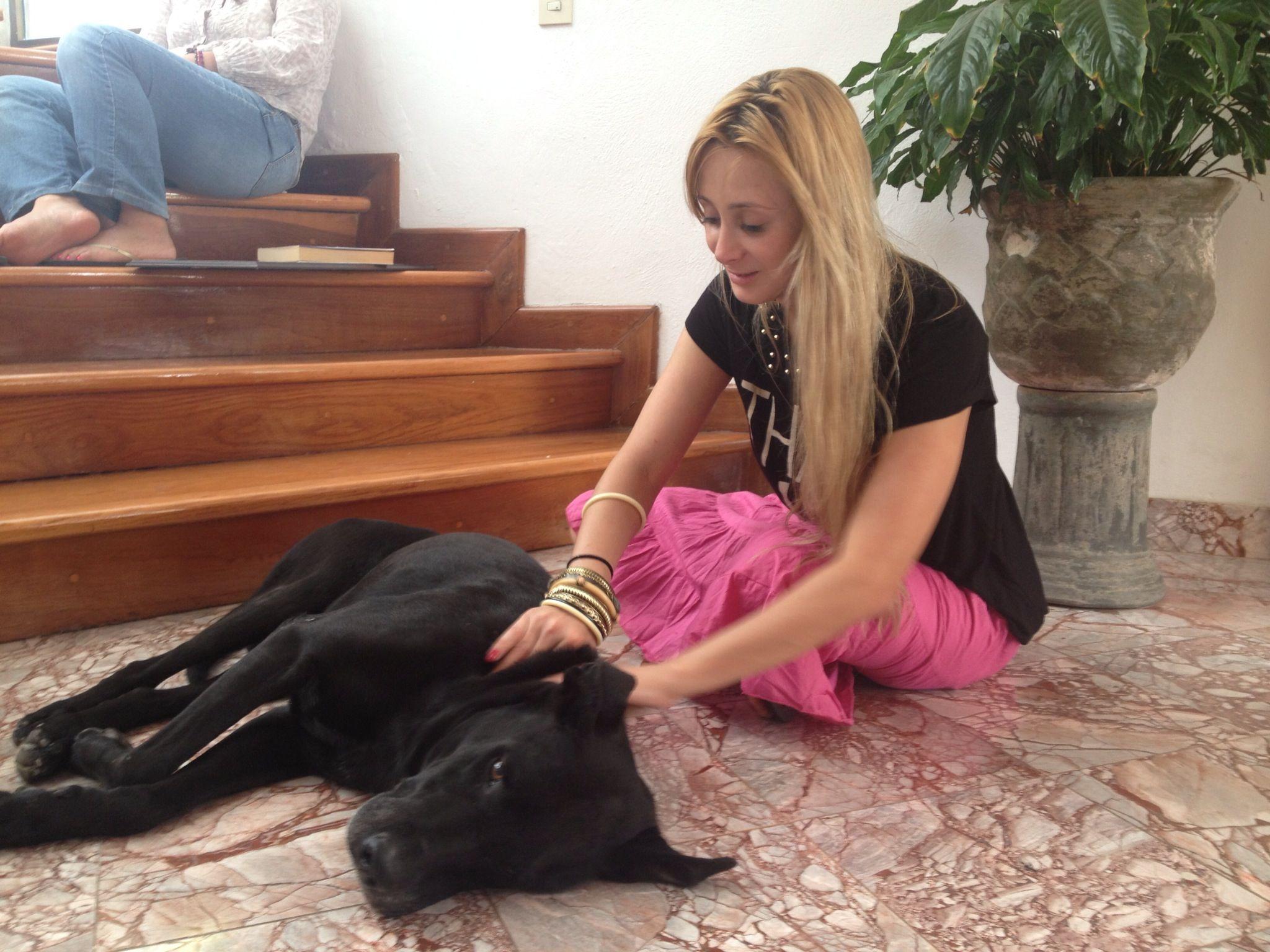bezoekende massage doggy style