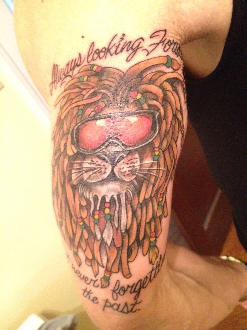 reggae lion tattoo the image kid has it. Black Bedroom Furniture Sets. Home Design Ideas