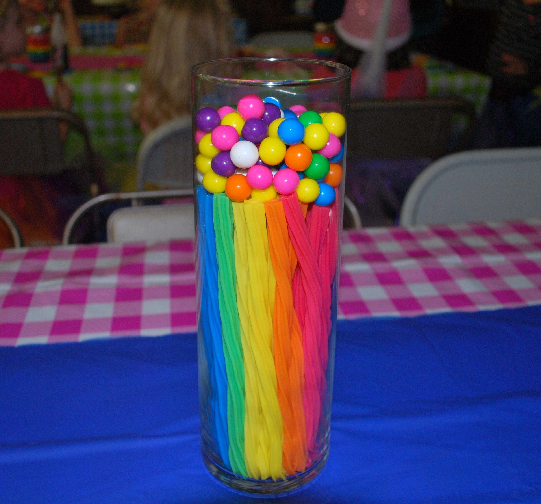 Twizzler rainbow center piece | crafts | Pinterest