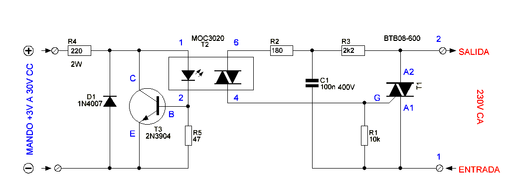 Схема твердотельного реле постоянного тока своими руками