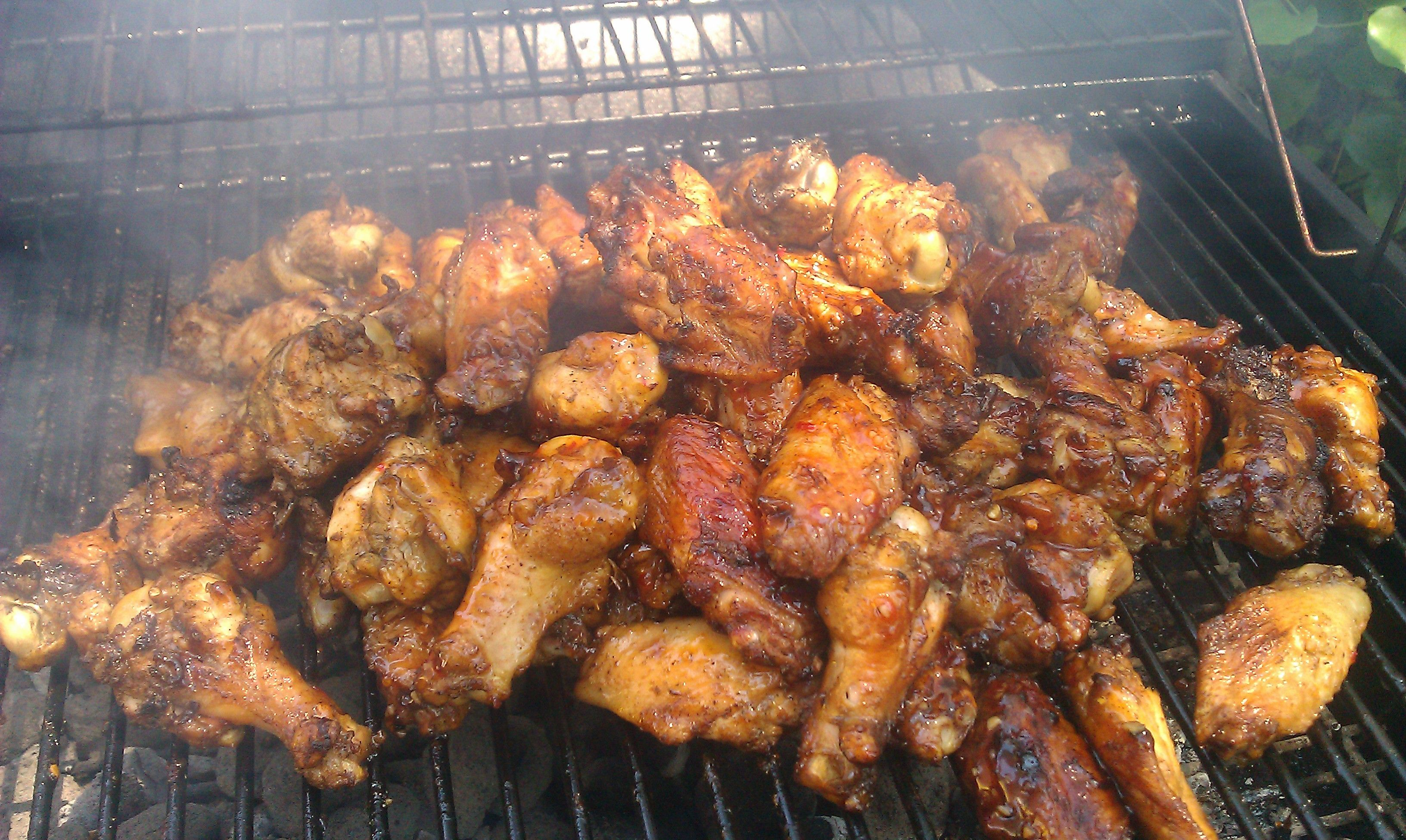 Grilled Jerk Chicken wings | Eats | Pinterest