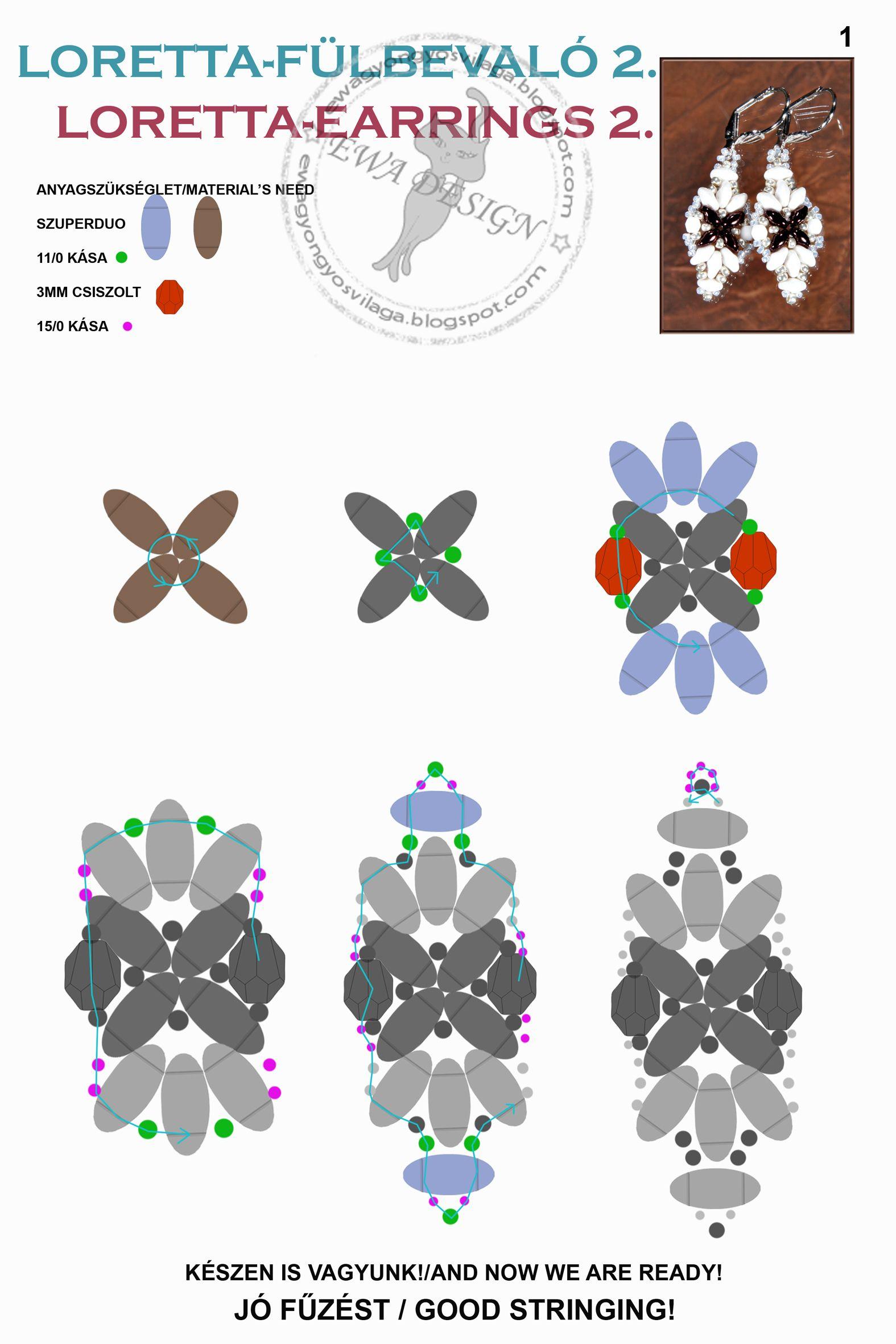 Схемы: Серьги с твином с сайта Евы Ковач