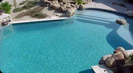 Pebble sheen slate blue | Backyard REDO in  | Pool