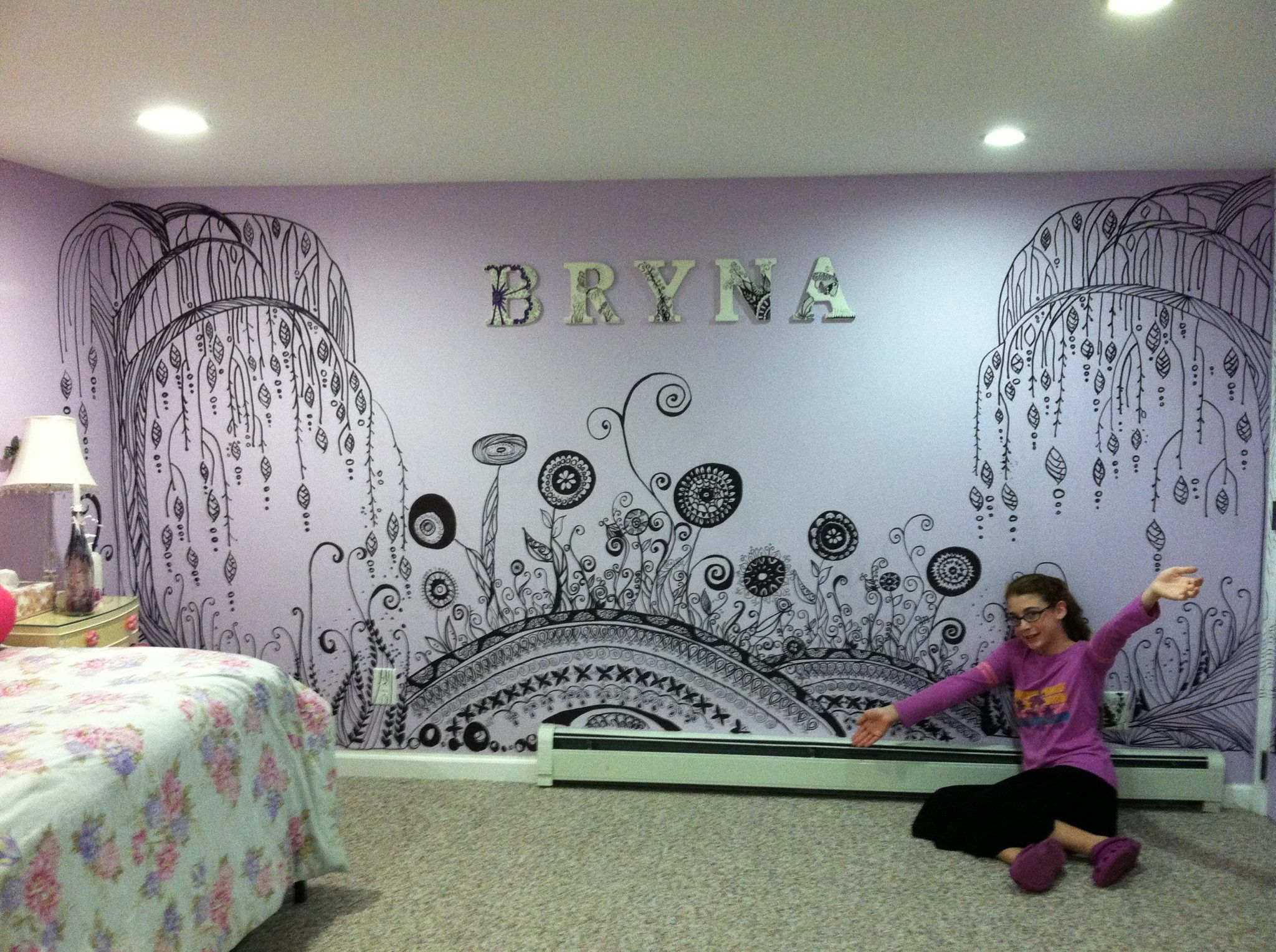 Sharpie art i want to do this art my heart pinterest for Diy mural painting